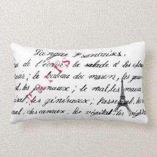 París soporta diseño con guión cojin