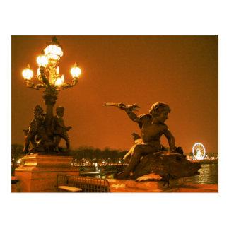 Paris sous la neige II Postcard