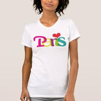 Paris souvernir typography t-shirt for girls