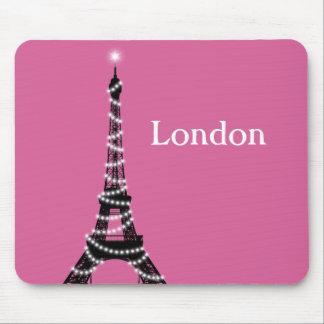 Paris Sparkles Everywhere Mouse Pad fuchsia