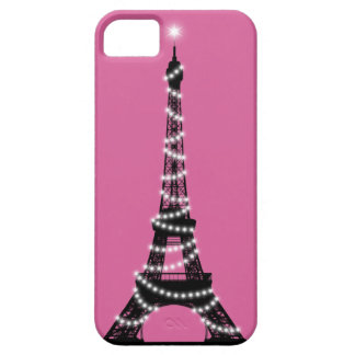 Paris Sparkles iPhone 5 Barely There pink iPhone SE/5/5s Case