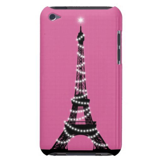 Paris Sparkles iPod Touch Barely There pink iPod Touch Cases