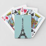 Paris Sparkles Poker Cards turquoise