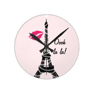 Paris Sparkles Wall Clock