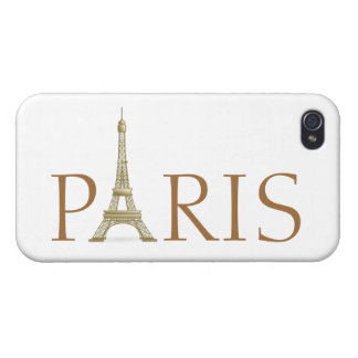 Paris spelled with Eiffel Tower Letter iPhone 4/4S Cases