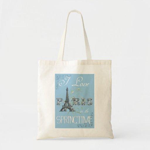Paris Spring Love Tote Bag