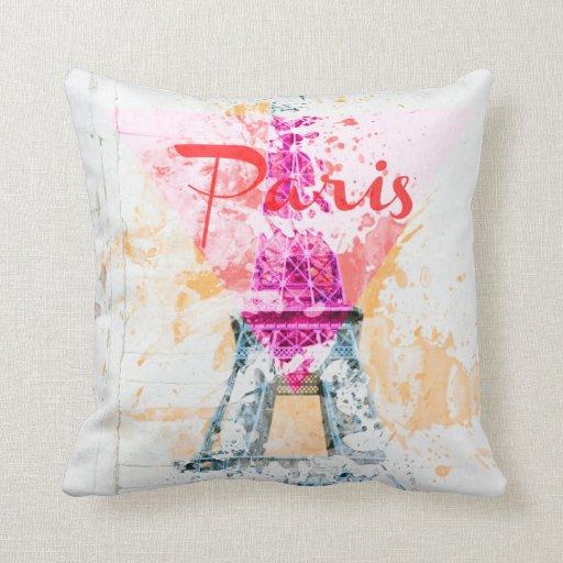 Paris Square Cotton Throw Pillow Case 16x16 Zazzle