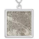 Paris Square Pendant Necklace