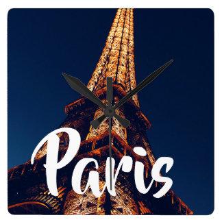 Paris Square Wall Clock