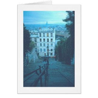 """Paris Stairway To Montmartre"" Card"