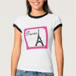 Paris Stamp Bright Pink T-Shirt