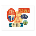 Paris stamp post card