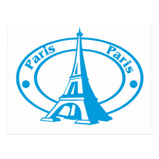 Paris Stamp Postcard