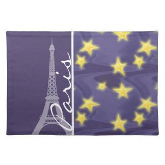 Paris Starry Night; Eiffel Tower Placemat