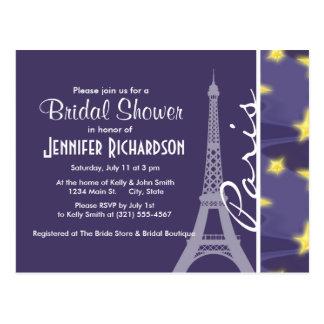 Paris Starry Night; Eiffel Tower Postcard