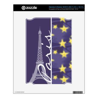 Paris Starry Night; Eiffel Tower Decals For NOOK