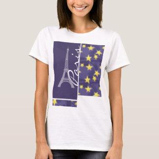 Paris Starry Night; Eiffel Tower T-Shirt