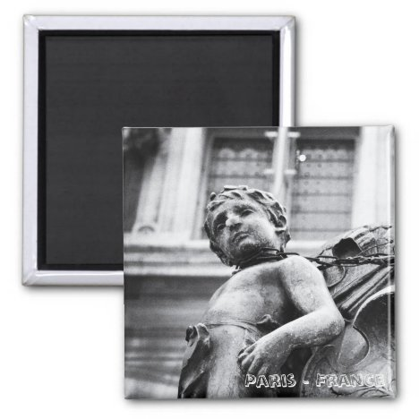 Paris Statues, Love (Fridge Magnet)