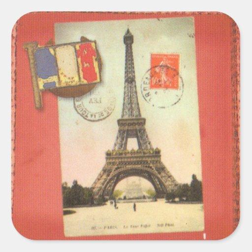 París Sticker4 cuadrado Calcomanías Cuadradas Personalizadas