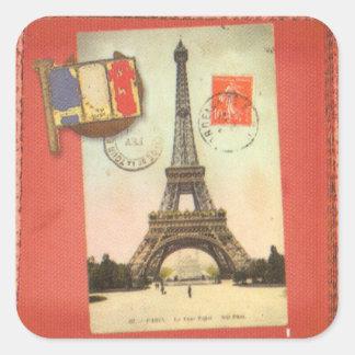 París Sticker4 cuadrado Pegatina Cuadrada