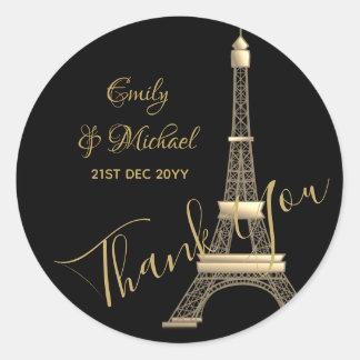 Paris Stickers - Black Gold elegant chic