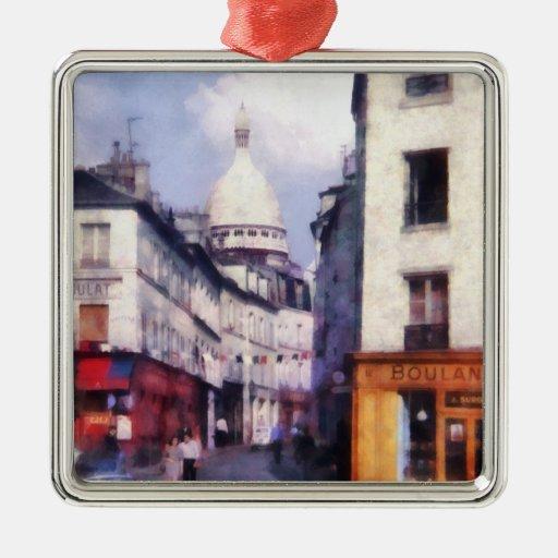 Paris Street Christmas Ornament