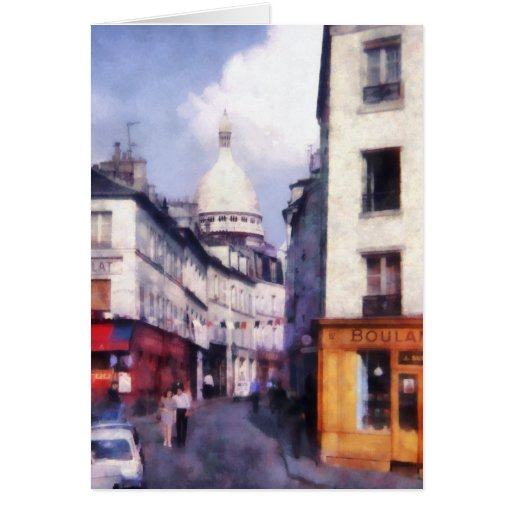 Paris Street Greeting Cards