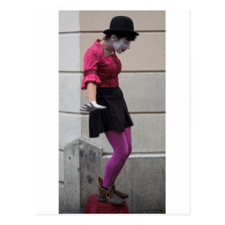 Paris Street Mime Postcard