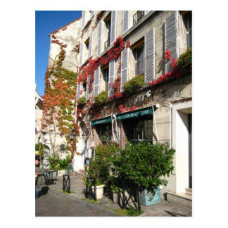 paris street postcard
