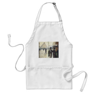 Paris Street, Rainy Day by Caillebotte Adult Apron