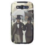 Paris Street, Rainy Day by Caillebotte Case Samsung Galaxy S3 Cases