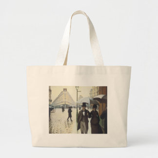 Paris Street, Rainy Day by Caillebotte Large Tote Bag