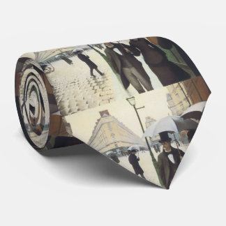 Paris Street, Rainy Day by Caillebotte Neck Tie