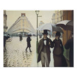 Paris Street, Rainy Day by Caillebotte Poster
