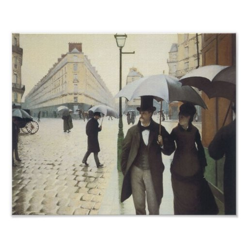 Paris Street, Rainy Day by Caillebotte Posters