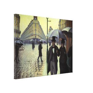 Paris Street Rainy Day by Caillebotte, Vintage Art Canvas Print