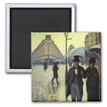 Paris Street Rainy Day by Caillebotte, Vintage Art 2 Inch Square Magnet
