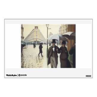 Paris Street, Rainy Day by Caillebotte Wall Sticker
