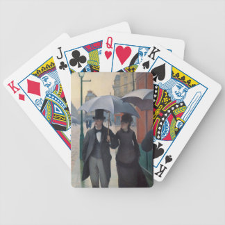 Paris Street Rainy Day by Gustave Caillebotte Bicycle Playing Cards