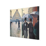 Paris Street Rainy Day by Gustave Caillebotte Canvas Prints