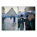 Paris Street Rainy Day by Gustave Caillebotte Card