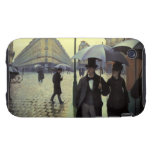 Paris Street, Rainy Day by Gustave Caillebotte iPhone 3 Tough Covers