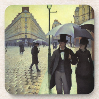 Paris Street, Rainy Day by Gustave Caillebotte Beverage Coaster