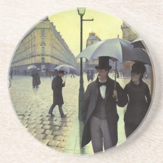 Paris Street Rainy Day by Gustave Caillebotte Drink Coaster