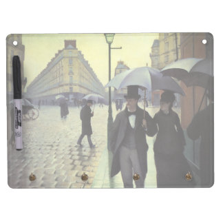 Paris Street Rainy Day by Gustave Caillebotte Dry Erase Board With Keychain Holder