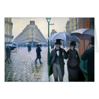 Paris Street Rainy Day by Gustave Caillebotte Greeting Card