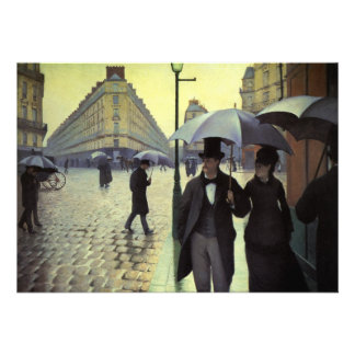 Paris Street, Rainy Day by Gustave Caillebotte Custom Invites