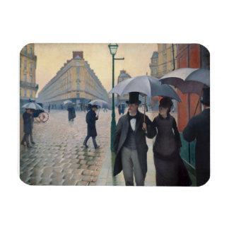 Paris Street Rainy Day by Gustave Caillebotte Magnet