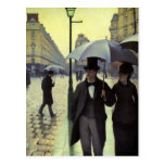 Paris Street, Rainy Day by Gustave Caillebotte Postcard