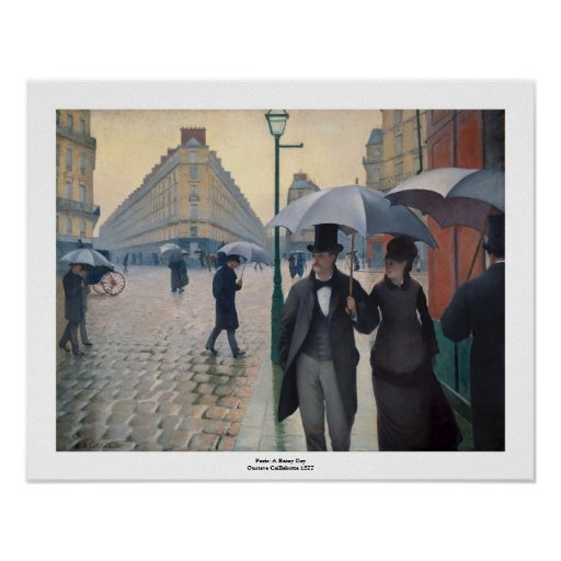 Paris Street Rainy Day by Gustave Caillebotte Poster